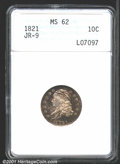 Bust Dimes: , 1821 10C Small Date