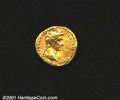 Ancients:Roman, Augustus. 27 BC-14 AD gold aureus, Laureate head right/Caiu...