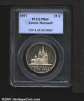Austria: , Mariazell 25 schillings 1957, Mariazell Basilica/Value in circl...