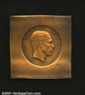 Belgium: , Klippe trial strike in yellow copper of the obverse of a 1949 1...