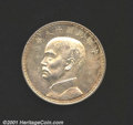 China: , Republic, American essay dollar year 18 (1929), Bust of Dr....
