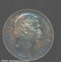 German States:Bavaria, Bavaria. Ludwig II gulden 1868, Bust right/Date and value in wr...