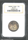Mexico: , Republic 25 centavos 1890 Go-R, Eagle and snake with date below...