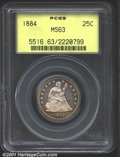 Seated Quarters: , 1884 25C