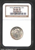 1916 25C MS64 Full Head NGC. A splendid near-Gem example of this modern rarity. Only 52,000 pieces were struck of the 19...