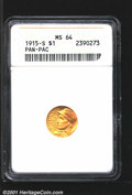 Commemorative Gold: , 1915-S G$1 PAN-PAC
