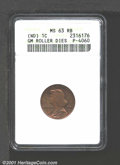 Undated (1960s) General Motors Roller Dies Cent, Unlisted in Judd, Pollock-4060, R.5, MS63 Red and Brown ANACS. It has b...