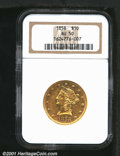 Liberty Eagles: , 1858 $10
