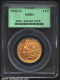 Indian Eagles: , 1920-S $10