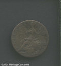 1778 1/2P Machin's Mills Halfpenny--Brockage--Fine 15 Corroded Uncertified. Full brockage of the reverse and perfectly c...