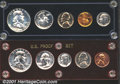 Proof Sets: , 1951 and 1953 Proof Sets, housed in red and blue plastic ...