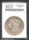 """1893-CC $1 VF20 ANACS. Mintage: 677,000. The latest Coin World """"Trends"""" price is $240.00. The current Coin Dea..."""
