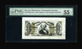 Fractional Currency:Third Issue, Fr. 1328SP 50¢ Third Issue Spinner Wide Margin Face PMG About Uncirculated 55. This hand-signed Spinner is mistakenly called...
