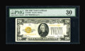 Small Size:Gold Certificates, Fr. 2402* $20 1928 Gold Certificate. Very Fine.. A trace of embossing and even handling are noticed on this elusive $20 Gold...