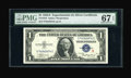 Small Size:Silver Certificates, Fr. 1610 $1 1935A S Silver Certificate. PMG Superb Gem Unc 67 EPQ.. This perfectly margined Experimental is one of the fines...