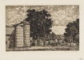 Prints:American, LUIGI LUCIONI (Italian-American 1900-1988). Classic Pastures;Tree Tapestry; Two Silos; Birch Group; Pattern of Trees; Ver...(Total: 12 )