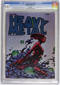 Heavy Metal #16 (HM Communications, 1978) CGC NM/MT 9.8 White pages. Richard Corben, Gray Morrow, and Alex Nino art. Not...