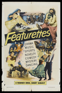 """Warner Brothers Featurettes Stock (Warner Brothers, 1951). One Sheet (27"""" X 41"""") Style A. Short Subject. This..."""