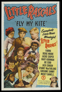 "Little Rascals Stock Poster (Monogram, 1951). One Sheet (27"" X 41""). Comedy Short. Re-release of 1931 ""Ou..."