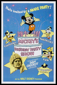 "Mickey's Birthday Party Show (Buena Vista, 1978). One Sheet (27"" X 41""). Adventure. Starring Fess Parker, Budd..."