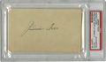 "Autographs:Index Cards, 1930's Jimmie Foxx Signed Index Card. Those familiar withDouble-X's autograph will instantly recognize this one as a""play..."