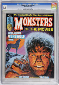 Monsters of the Movies #4 (Marvel, 1974) CGC NM/MT 9.8 Off-white to white pages. Werewolf issue. Bob Larkin cover. Mike...