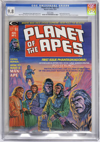 Planet of the Apes (Magazine) #1 (Marvel, 1974) CGC NM/MT 9.8 White pages. Adaptation of the original movie. Bob Larkin...