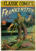 "Golden Age (1938-1955):Classics Illustrated, Classic Comics #26 Frankenstein - Davis Crippen (""D"" Copy)pedigree(Gilberton, 1945) Condition: GD/VG...."
