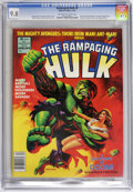 Magazines:Superhero, The Rampaging Hulk #8 (Marvel, 1978) CGC NM/MT 9.8 Off-white towhite pages. Painted cover by Ken Barr. Herb Trimpe and Alfr...