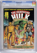 Magazines:Superhero, The Rampaging Hulk #9 (Marvel, 1978) CGC NM/MT 9.8 Off-white towhite pages. Avengers appearance, set prior to Avengers ...