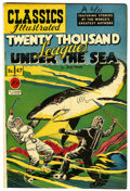 "Golden Age (1938-1955):Classics Illustrated, Classics Illustrated #47 Twenty Thousand Leagues Under the Sea - Davis Crippen (""D"" Copy) pedigree (Gilberton, 1948) Condition..."