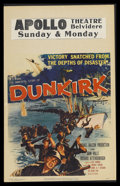 "Movie Posters:War, Dunkirk (MGM, 1958). Window Card (14"" X 22""). War. Starring JohnMills and Richard Attenborough. Directed by Leslie Norman. ..."