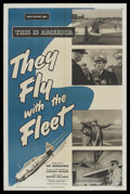 "Movie Posters:Short Subject, This is America (RKO, 1951). One Sheet (27"" X 41"") ""They Fly withthe Fleet."" Documentary. Narrated by Dwight Weist. Directe..."