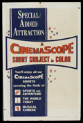 """Movie Posters:Short Subject, CinemaScope Stock Poster (20th Century Fox, 1955). One Sheet (27"""" X41""""). CinemaScope changed the way that motion pictures l..."""
