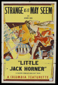 """Movie Posters:Short Subject, Strange as it May Seem (Columbia, 1937). Stock One Sheet (27"""" X41"""") Style B - """"Little Jack Horner."""" Short Subject...."""
