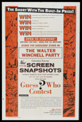"""Movie Posters:Short Subject, Screen Snapshots Stock Poster (Columbia, 1957). One Sheet (27"""" X41""""). Short Subject. """"The Walter Winchell Party,"""" from Colu..."""