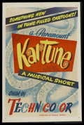 "Movie Posters:Animated, Kartune Stock Poster (Paramount, 1951). One Sheet (27"" X 41""). Animated. Designed for a series of animated musical shorts pr..."