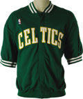 Basketball Collectibles:Uniforms, 1990 Larry Bird Game Worn Warm-Up Suit. Dating from the tail end ofthe Boston Celtic glory days, when the rest of the East...