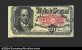 Fractional Currency:Fifth Issue, Fifth Issue 50c, Fr-1381, AU. Off center enough for the note be...