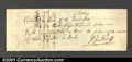 Miscellaneous:Checks, 1807 Bank of the United States $1,379.63, AU, with some minor i...