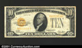 Small Size:Gold Certificates, 1928 $10 Gold Certificate, Fr-2400, VF+. A crisp example of thi...