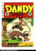 """Golden Age (1938-1955):Funny Animal, Dandy Comics #3 (EC, 1947). Condition: VG. Centerfold page has 1""""split at bottom...."""