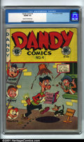 Golden Age (1938-1955):Funny Animal, Dandy Comics #4 (EC, 1947). Condition: VG/FN 5.0, cream tooff-white pages. Overstreet 2001 GD 2.0 value = $19; FN 6.0value...
