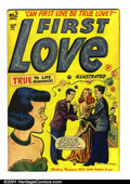 Golden Age (1938-1955):Romance, First Love #2 (Harvey, 1949). Condition: FN+. Very small tear at the bottom of one interior page (does not affect art)....