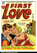 "Golden Age (1938-1955):Romance, First Love #3 (Harvey, 1949). Condition: VF-. Centerfold has a 1""tear at top of page...."