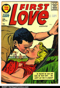 Silver Age (1956-1969):Romance, First Love #73 (Harvey, 1957). Condition: FN-. Date stamp and namewritten in pen on page 1....