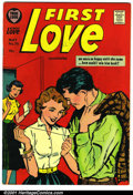 Silver Age (1956-1969):Romance, First Love #76 (Harvey, 1957). Condition: VF-. Date stamp and namewritten on page 1....