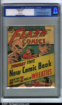 Flash Comics Wheaties Promotion #nn (DC, 1946). Condition: CGC G/VG 3.0, off-white pages. Flash and Hawkman appear. Over...