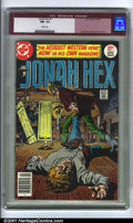 Bronze Age (1970-1979):Western, Jonah Hex #1 (DC, 1977). Condition: CGC NM- 9.2, white pages. Overstreet 2001 NM 9.4 value = $75....