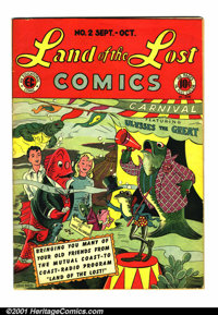 """Land of the Lost #2 (EC, 1946). Condition: VG. Three interior pages missing 1"""" at top corner, does not affect art o..."""
